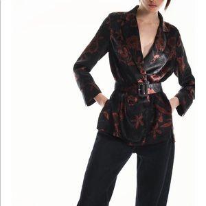 Zara Belted Print Blouse